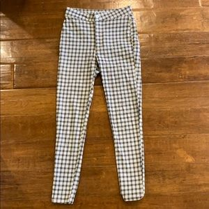 Plaid Free People Trouser Pants SIZE 25
